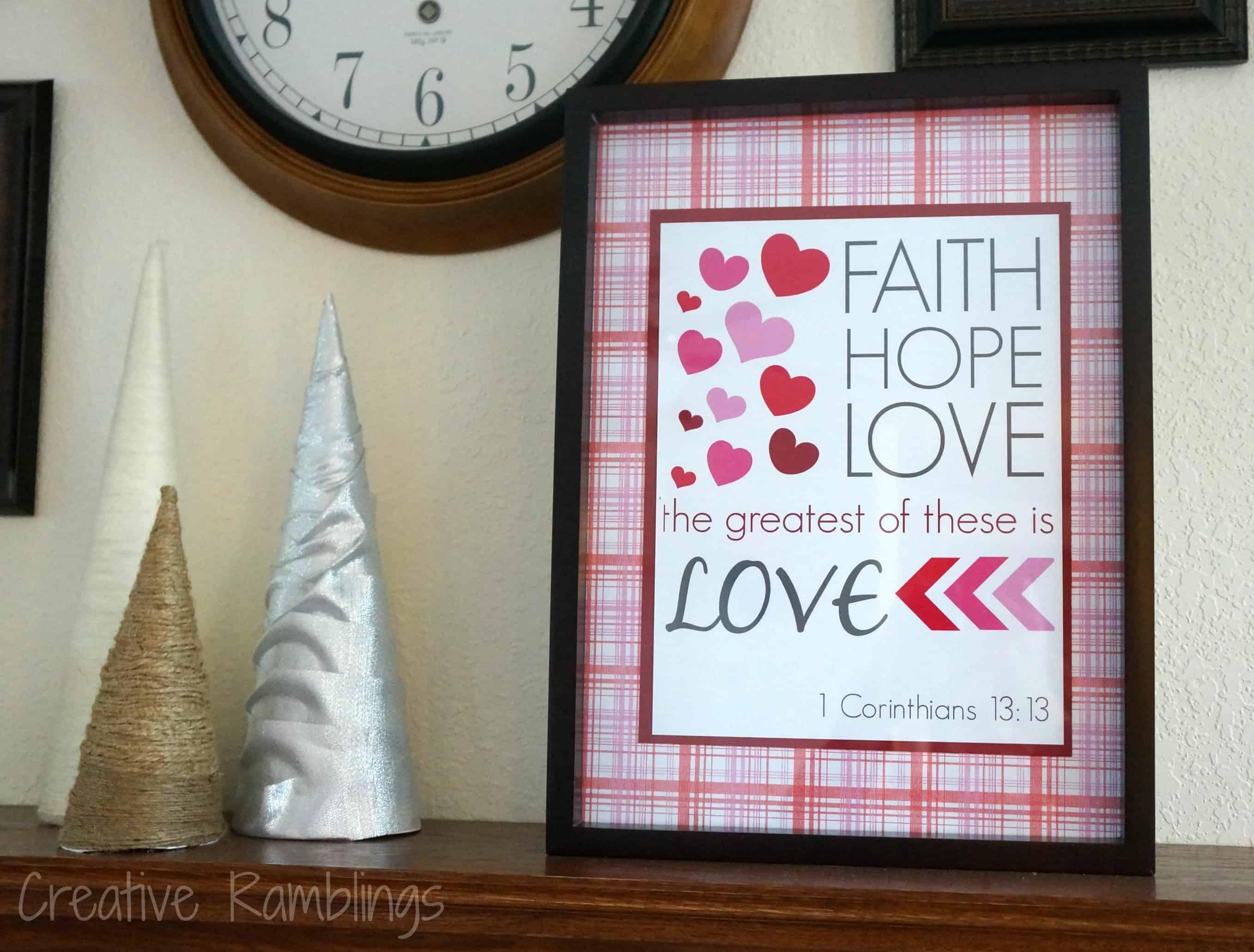 Valentine printable 1 Corinthians 13:!3