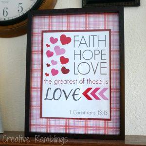 1 Corinthians 13:13 printable