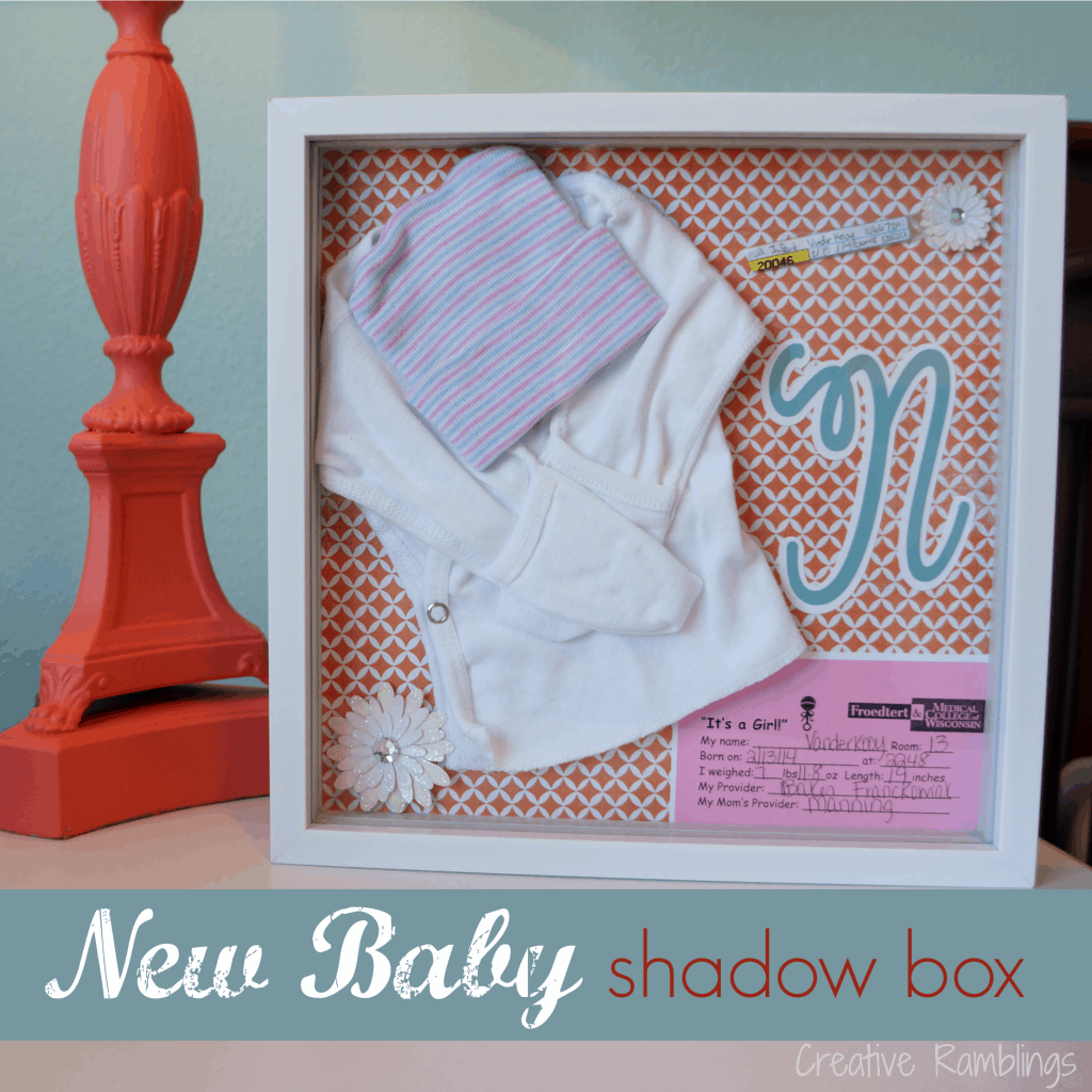 new baby shadow box