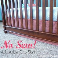 No Sew Adjustable Crib Skirt