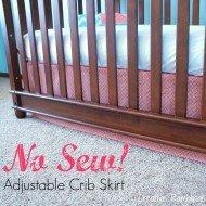 No Sew Adjustable Crib Skirt