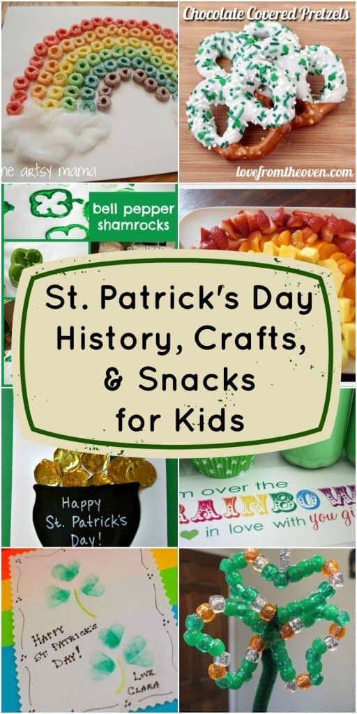 St Patrick's Day history crafts and snacks for kids
