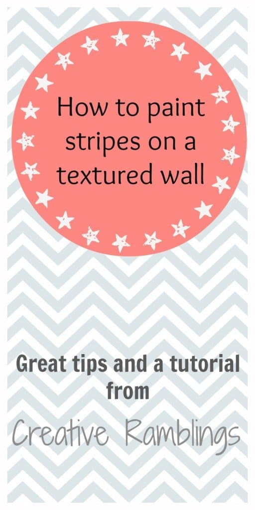 how to paint stripes on a textured wall
