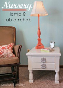 Side table and lamp DIY upcycle project