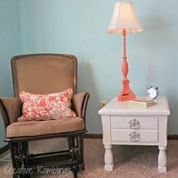 nursery table and lamp rehab