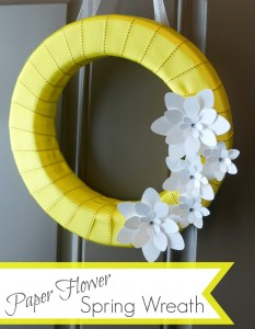 paper flower spring wreath pin
