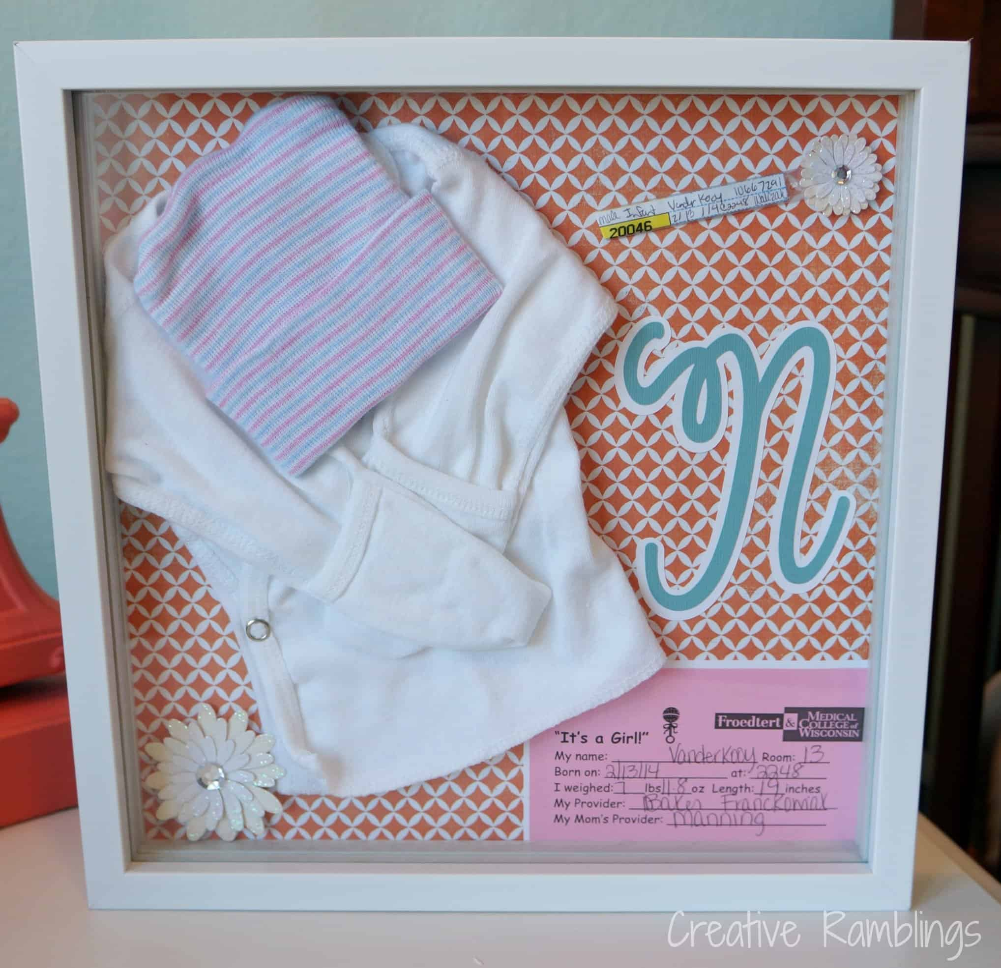 New Baby Shadow Box Creative Ramblings