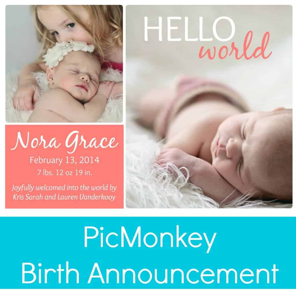 PicMonkey Birth announcement