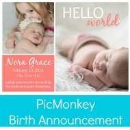 Birth Announcement with PicMonkey