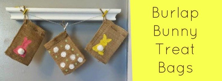 Burlap Bunny Treat Bags for Easter
