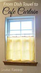 From dish towel to cafe curtain - quick and easy project