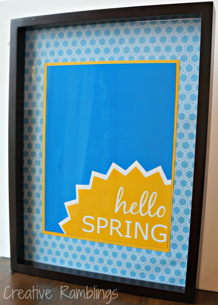 hello spring blue and yellow printable