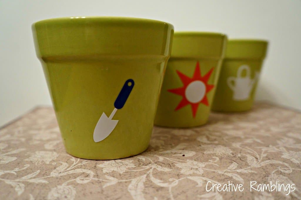 pretty little herb pots