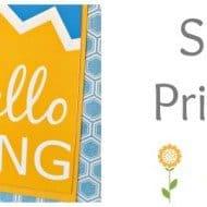 Hello Spring Print