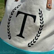 Monogrammed Tote Bag Gift