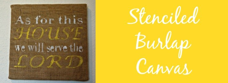 Stenciled Burlap Canvas and Silhouette Inspiration