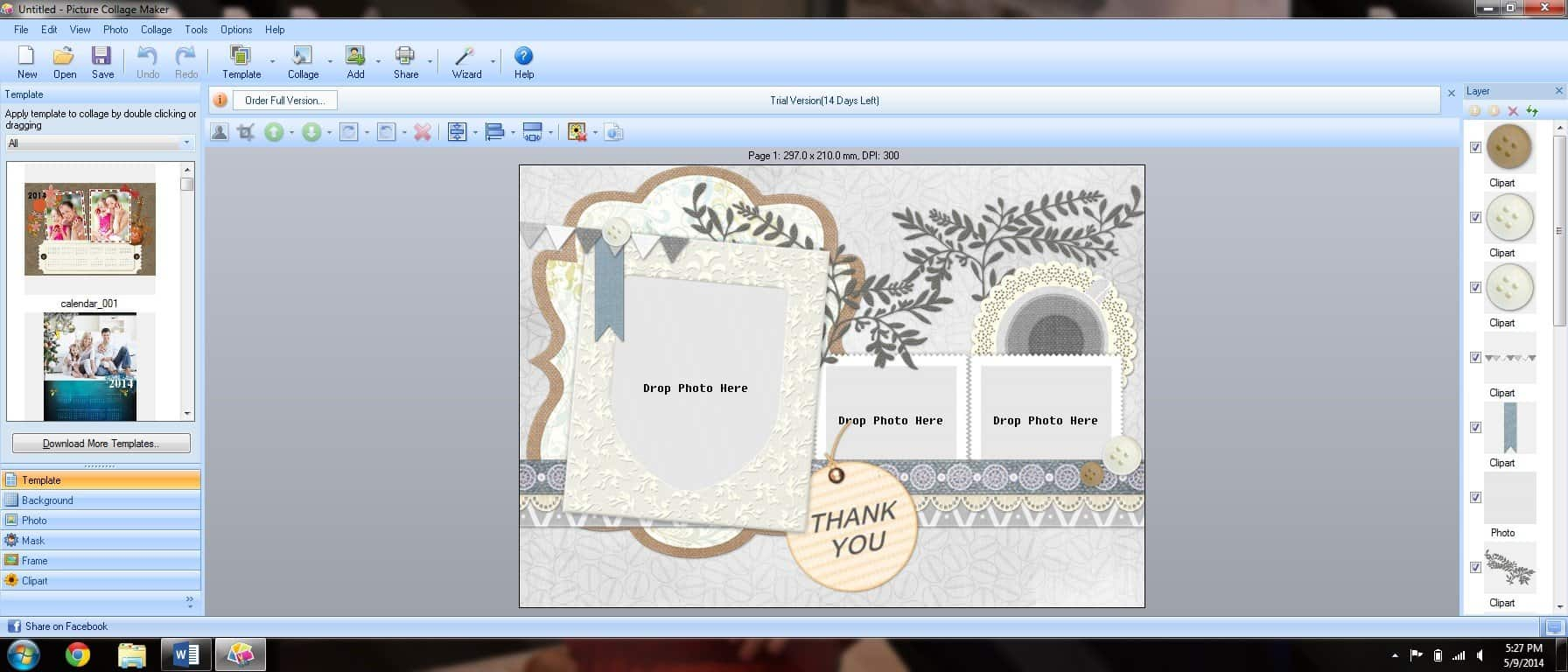 Thank You Cards With A Picture Collage Maker Creative Ramblings