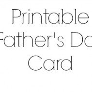 Printable Father's Day Card Sneek Peek