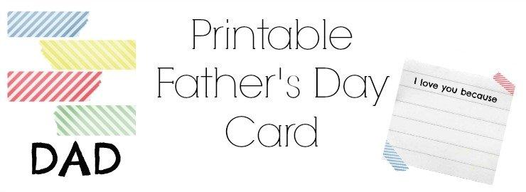 Printable Father's Day Card Sneek Peek
