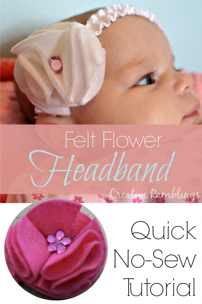 Quick no-sew felt flower tutorial