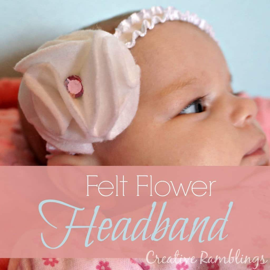 No-sew felt flower headband