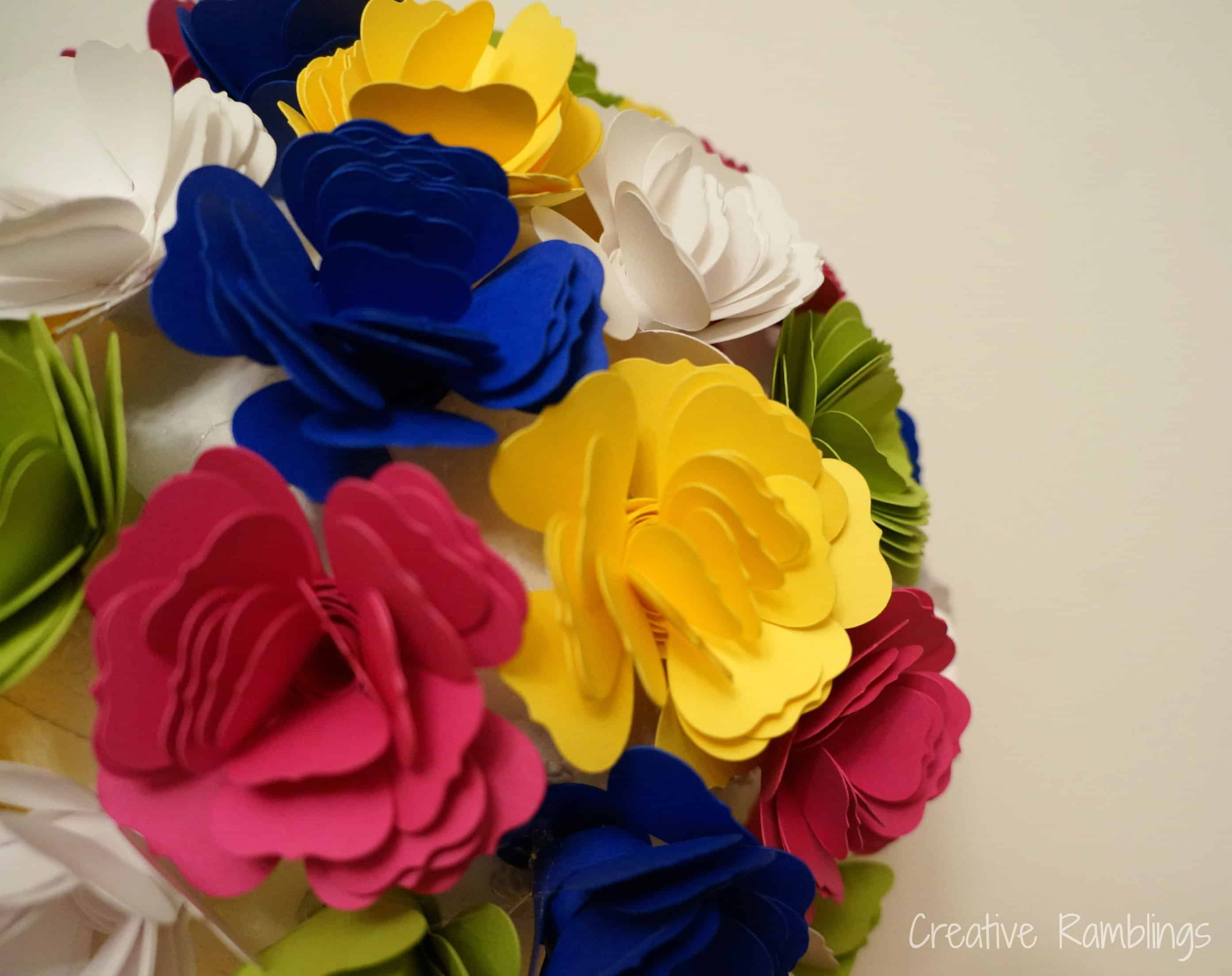 Paper flower topiary from creative ramblings weekend craft paper flower topiary mightylinksfo