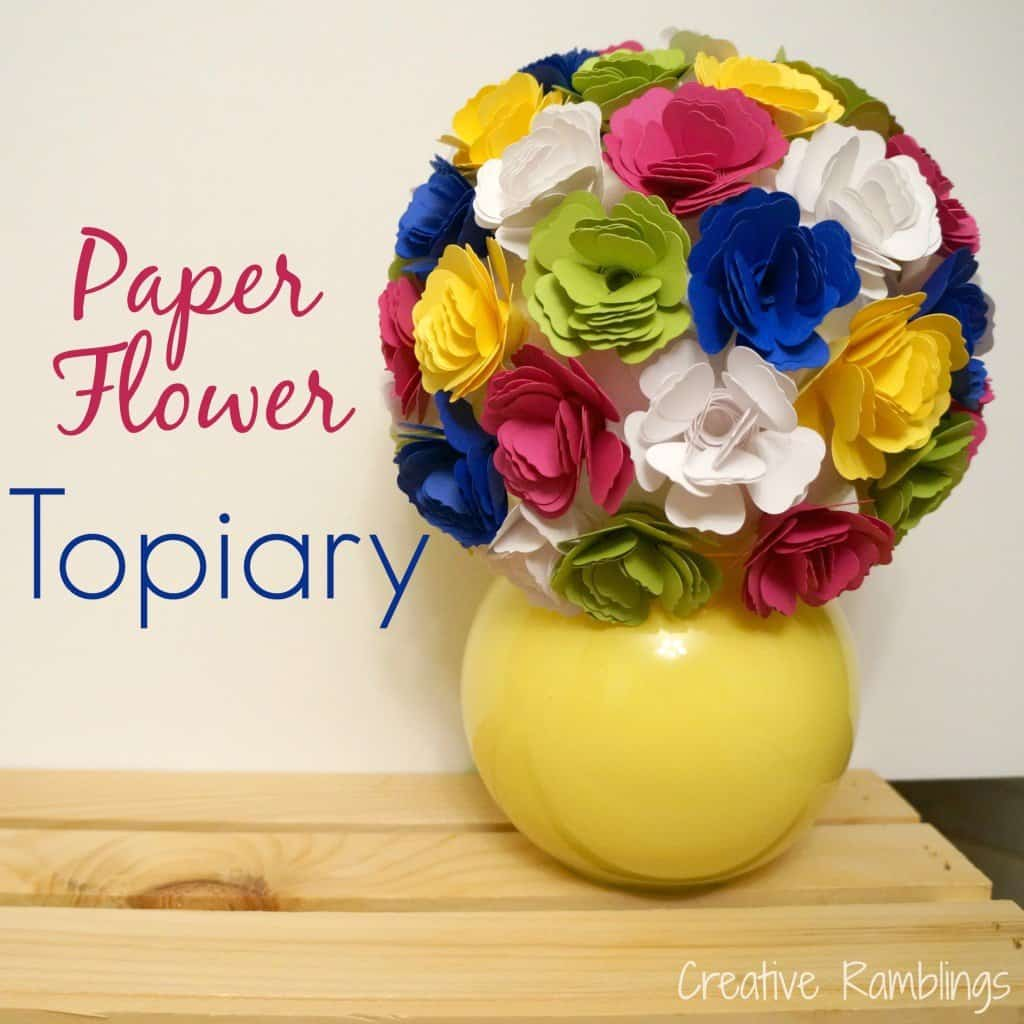 paper flower topiary #silhouette
