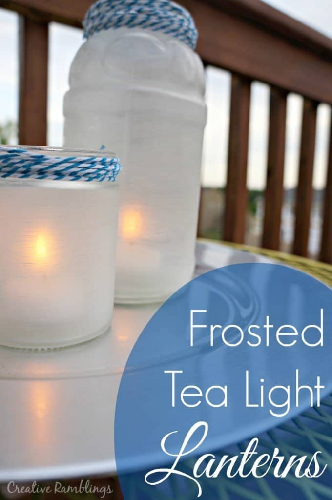 Frosted Tea Light Lanterns