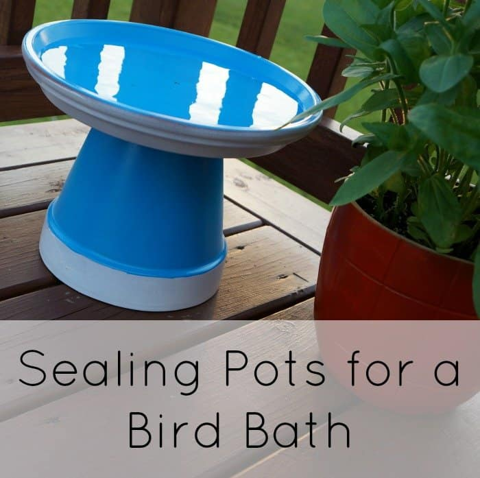 Sealingand painting pots for a bird bath