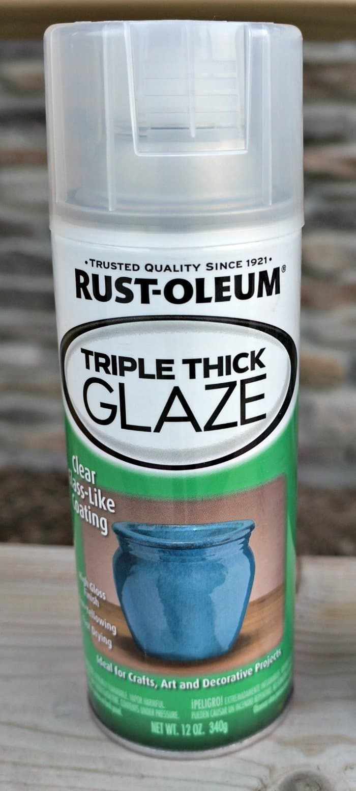 Rustoleum triple thick glaze to seal painted pots