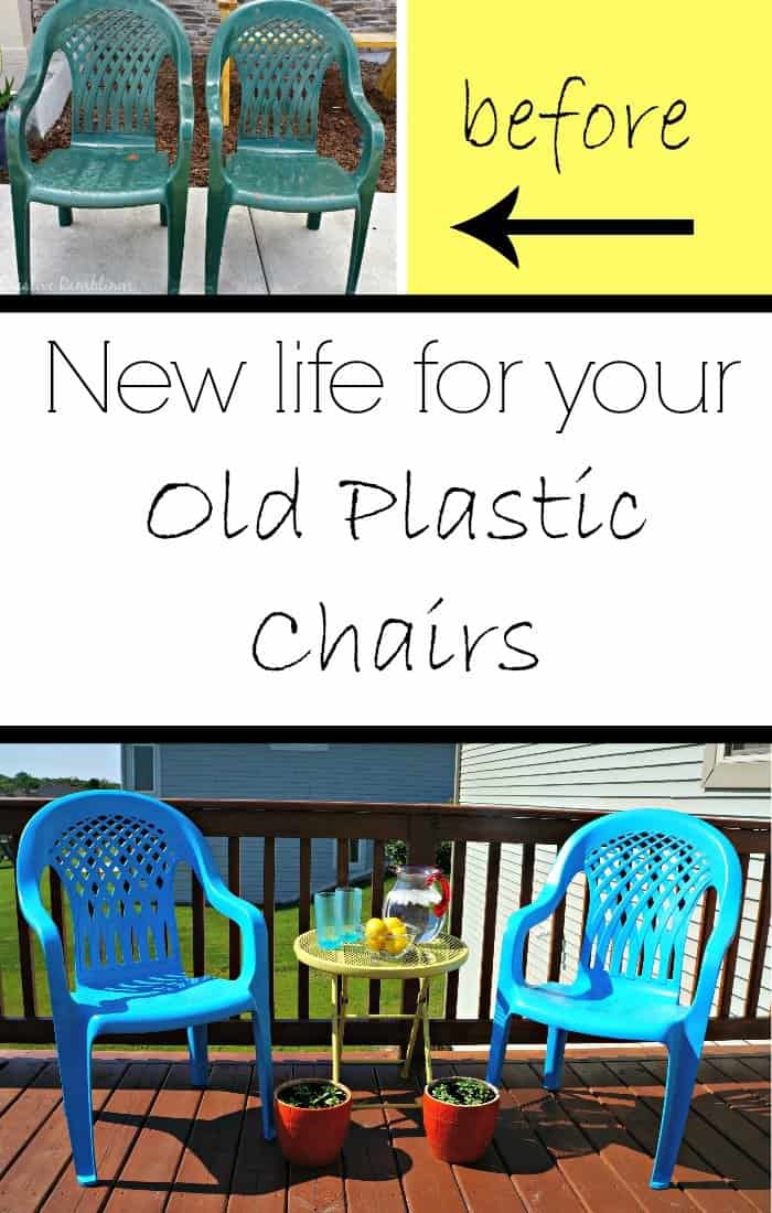 new life for your old plastic chairs - with just a little paint