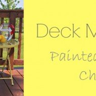 Deck Makeover – Painted Plastic Chairs