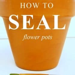how to seal flower pots