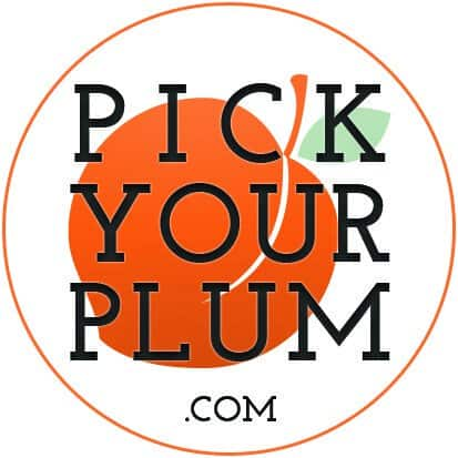 Pick Your Plum round sticker 2