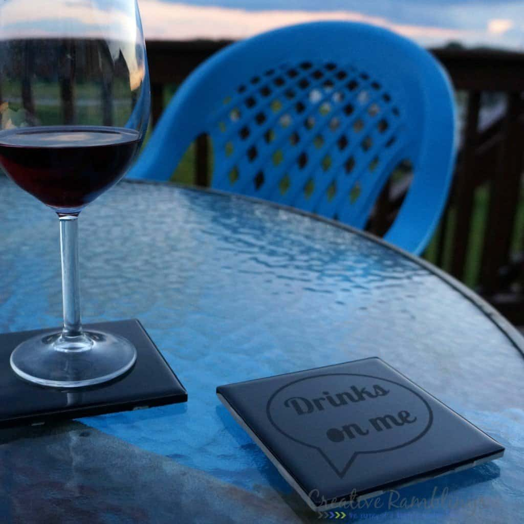 Etched glass coasters creative ramblings for Creative coasters