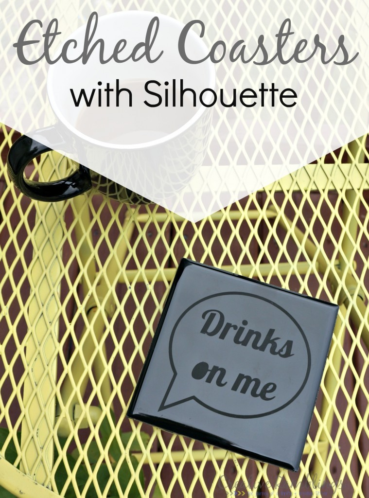Etched coasters using a #silhouette