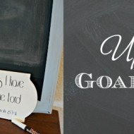 Goal Board – Upcycled Chalkboard