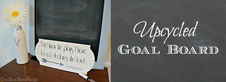Goal Board – Upcycled Chalkboard