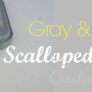Gray and Yellow Scalloped Frames
