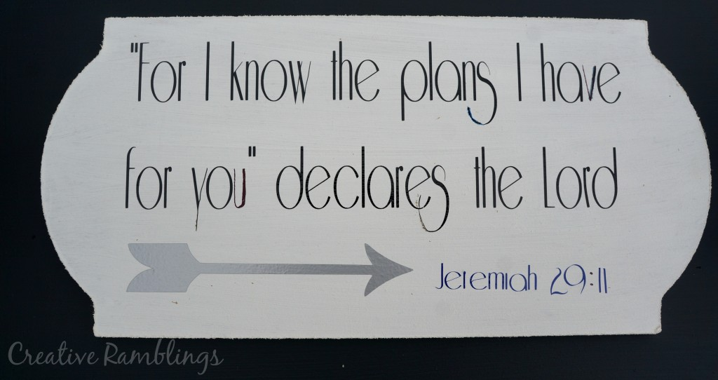 Goal Board quote Jeremiah 29:11