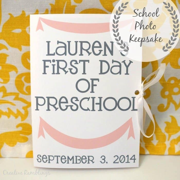 Creative Ramblings School photo keepsake with a Silhouette