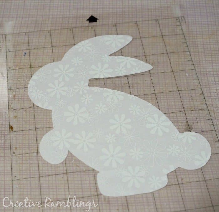 bunny cut out for fabric wall art