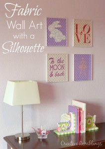 fabric wall art with a silhouette