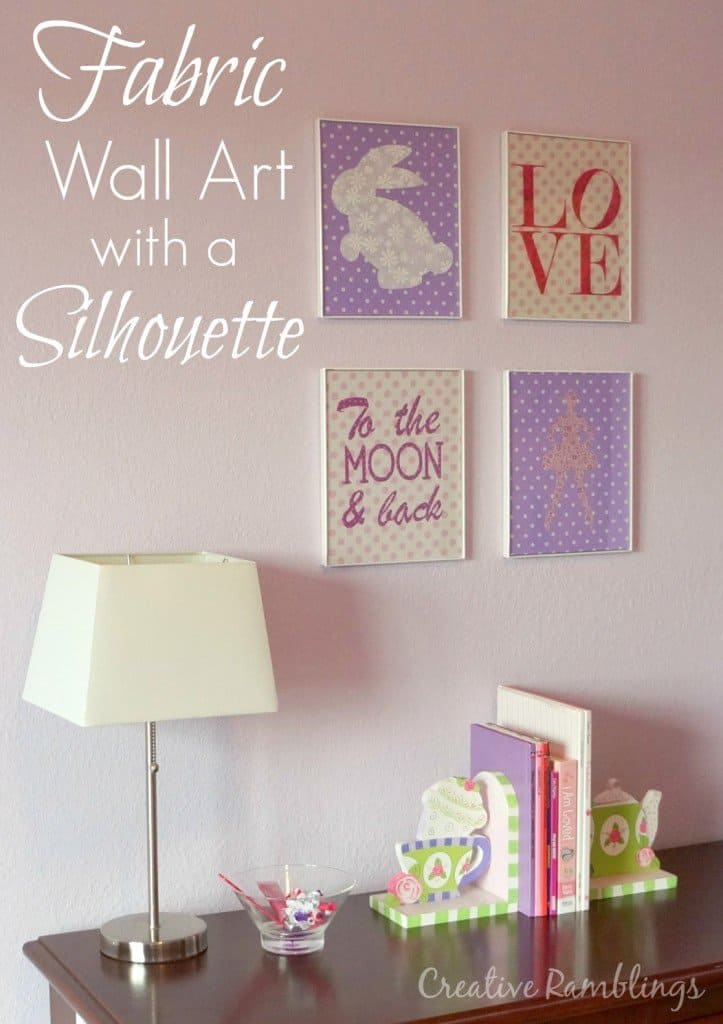 DIY, do it yourself, fabric, wall art, Silhouette, Silhouette tutorial