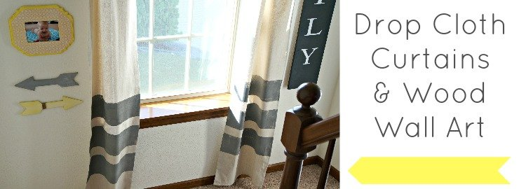 Painted Drop Cloth Curtains