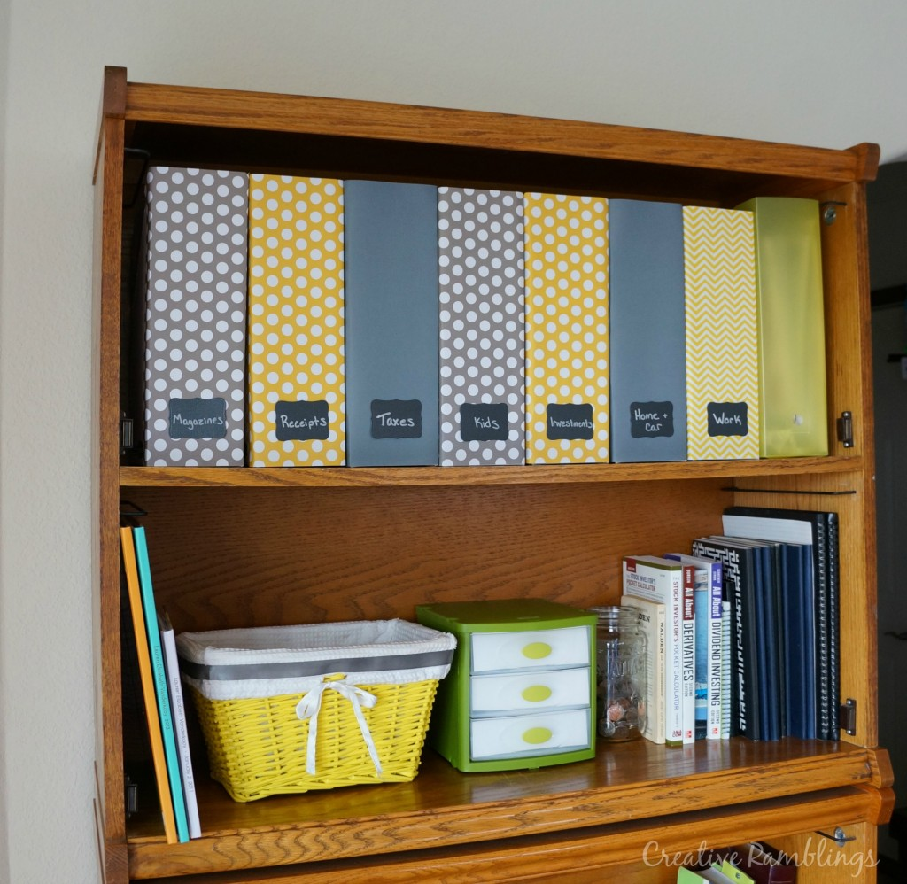 yellow and gray magazine files