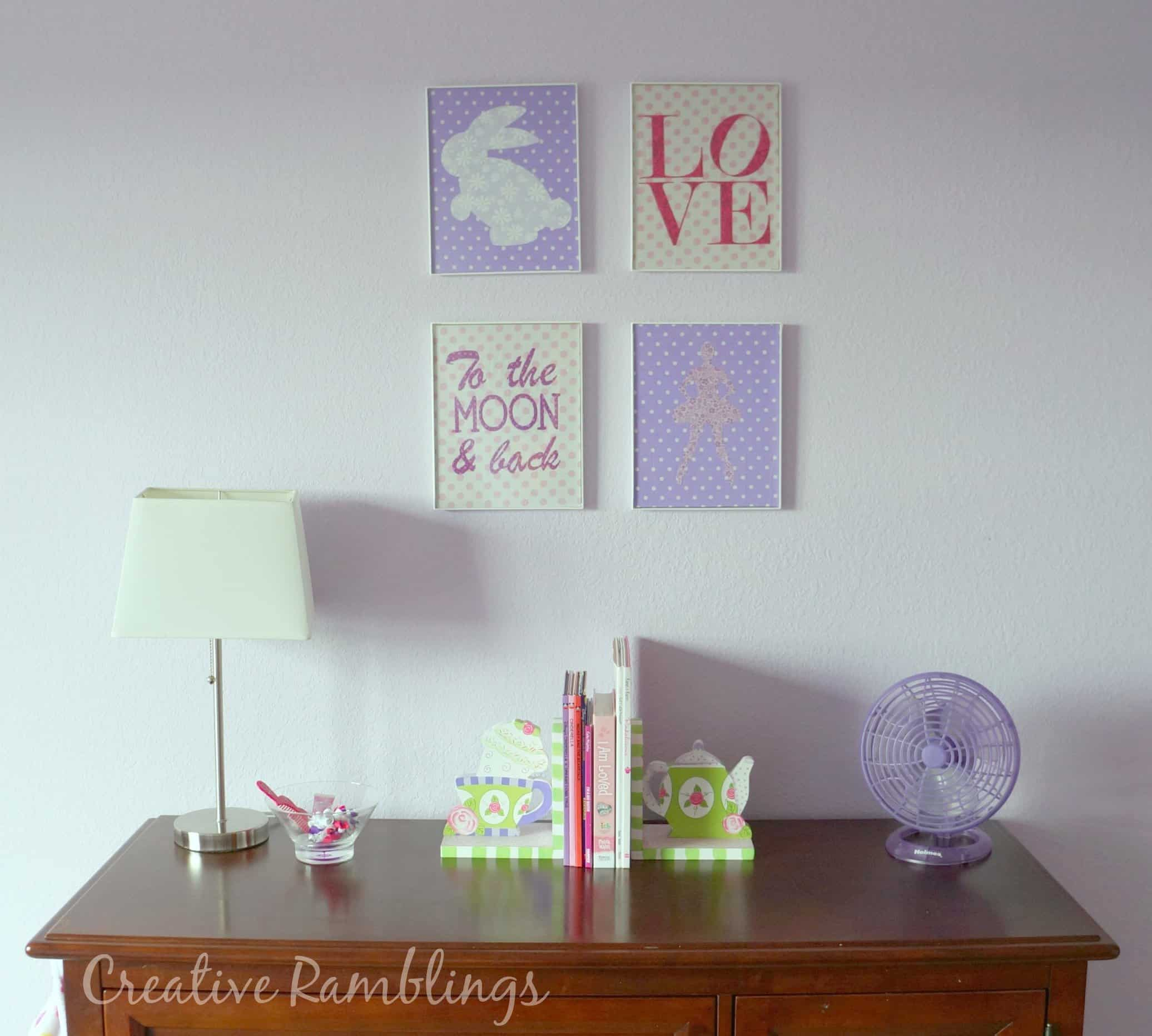 fabric wall designs. DIY  do it yourself fabric wall art Silhouette tutorial Fabric Wall Art with School