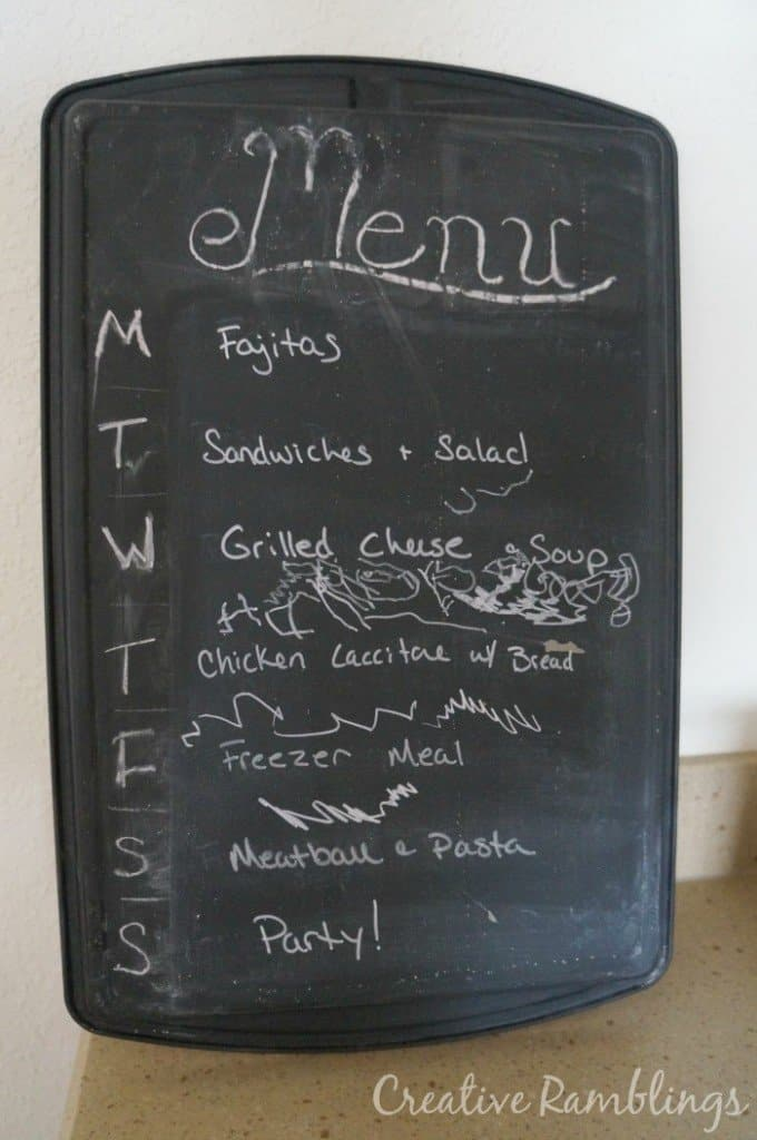 menu board before