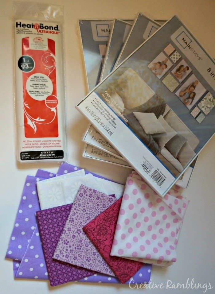 Fabric wall art supplies