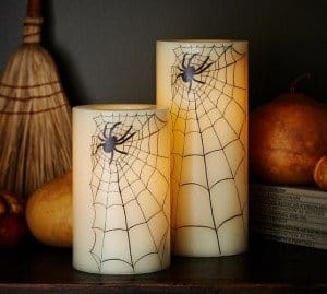 Pottery Barn Spider Flameless Candles